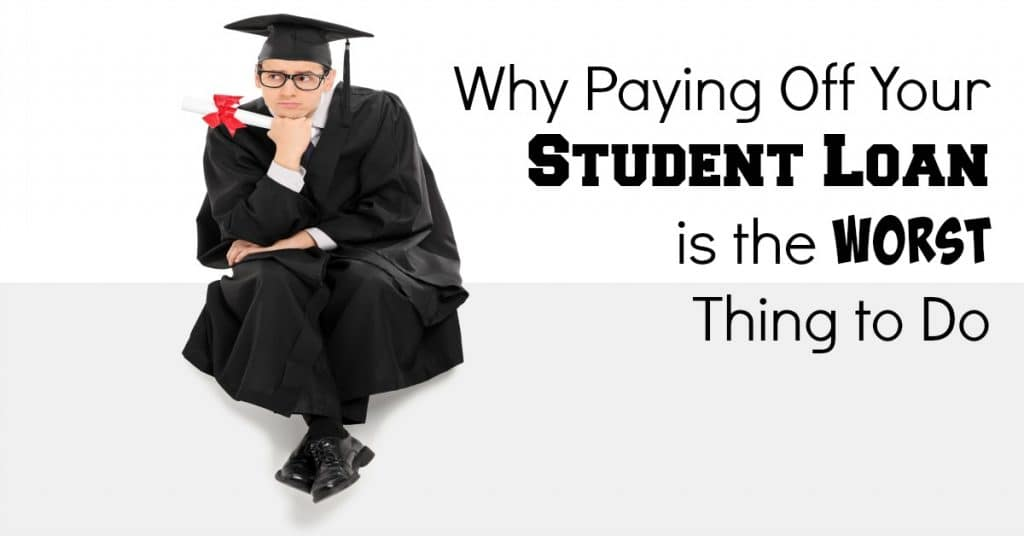 why paying off student loans is the worst