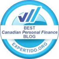 "Honoured to be awarded ""Best Canadian Personal Finance Blog"" by Expertido!"